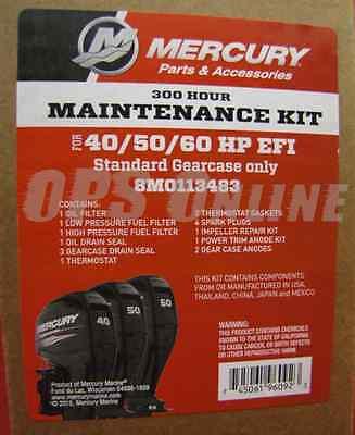 4-Stroke 8M0113483 Mercury 300 Hour Maintenance Kit 40-50-60 HP EFI 4 Cyl