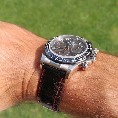 Spezzoni cinturino pelle per Rolex Daytona oro 20mm Made in Italy 8