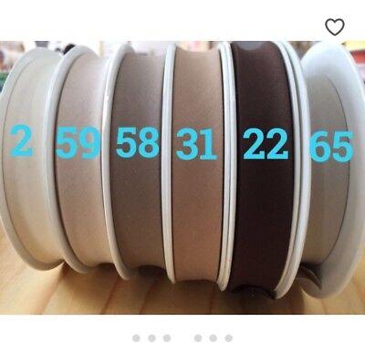 81 COLOURS %100PURE COTTON  Bias Binding Tape 2cm Width/ 20 mm 9