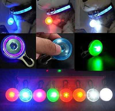 LED Fascinating Pet Dog Cat Puppy Flashing Collar Safety Night Light Pendant /lc 4