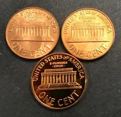 1960 P & D  PLUS 1960 D Small Date CHOICE UNC & 1960 PROOF LINCOLN (4 COINS) 2