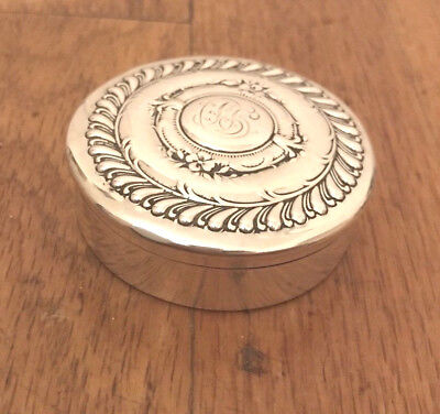 Antique Sterling Silver Theodore B.starr New York Gorham Trinket Pill Box Ornate 2
