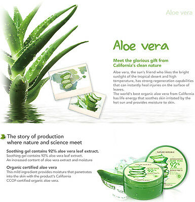 [NATURE REPUBLIC] Soothing & Moisture ALOE VERA 92% Soothing Gel 300ml 2