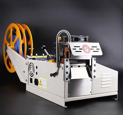 110V US Automatic Computer Control Hot Cold Textile Weave Belt Cutting Machine 5