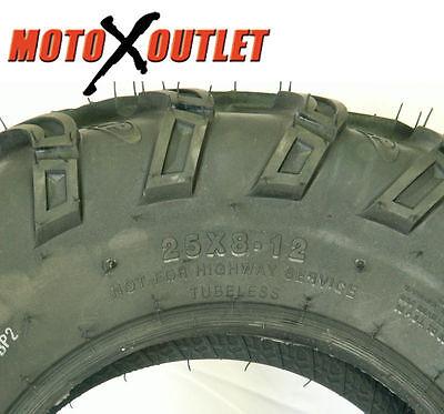 "25X8-12 25X10-12 2003-2014 HONDA RUBICON 500 BEAR CLAW 25/"" ATV TIRES SET 4"