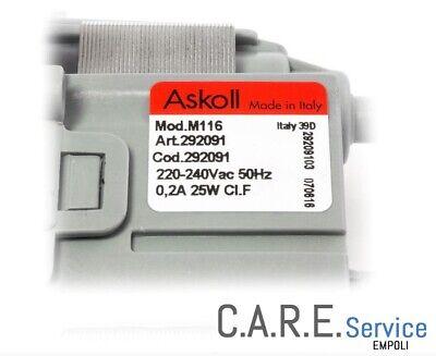 Pompa Scarico Lavatrice Magnetica Askoll 25W Faston Alti Plaset 64282 Av5408.1 2