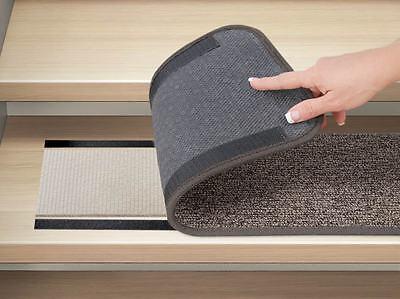 2 Of 4 Set 12 Attachable Carpet Stair Treads 8 X23 5 Pebble Gray Runner