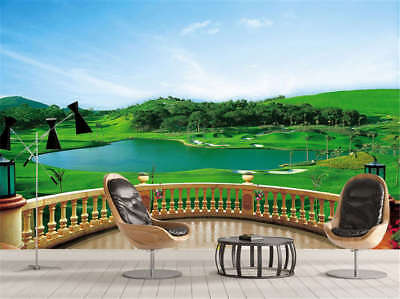 Concise Green Lake 3D Full Wall Mural Photo Wallpaper Printing Home Kids Decor