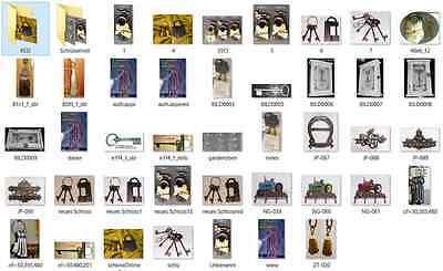 Einlaßschloß+Schlüssel rechts DM 50 mm Möbelbeschläge /& Griffe  Möbelschlösser 1