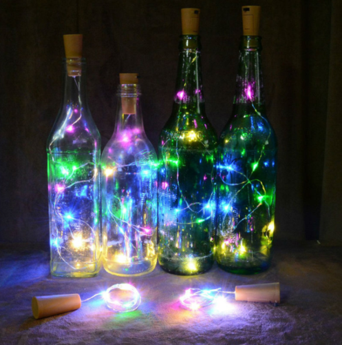 20X 2M 20 LED Wine Bottle Fairy String Light Cork Starry Night Lamp Xmas Wedding 3