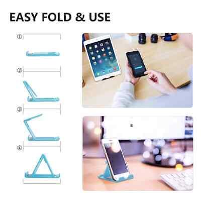 Universal Adjustable Mobile Phone Holder Stand Desk Tablet Foldable Portable 3