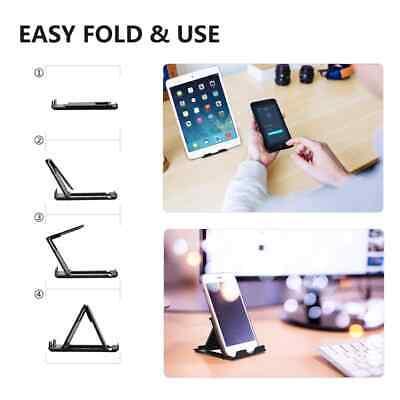 Universal Adjustable Mobile Phone Holder Stand Desk Tablet Foldable Portable 8