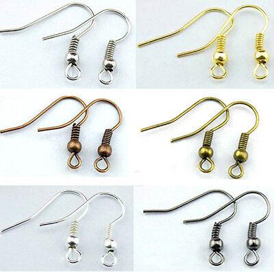 20 50 100 Earring Ear Hooks jewellery making findings Shepherd Wire Bead & Coil 2