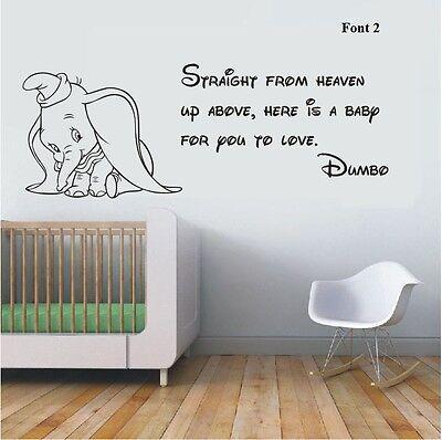 Wall Stickers Dumbo The Elephant Straight From Heaven Vinyl