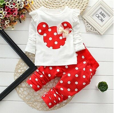 Baby clothes kids girls tops+pants Set Outfits autumn clothing dot 4