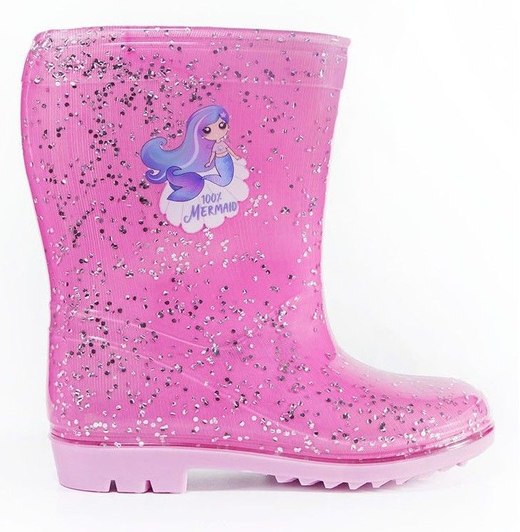 Childrens Shimmer And Shine GirlsWellington Boots Beach Wellies Kids Rockpooling