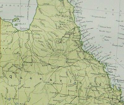 Large Map Of Australia.1934 Large Map Commonwealth Of Australia Queensland Victoria New South Wales
