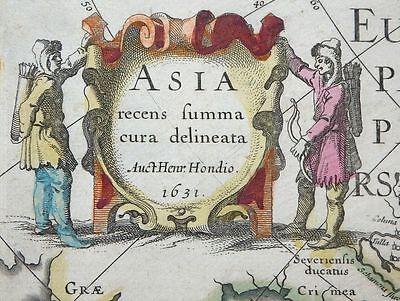 Mercator Hondius Asien Asia Recens Summa Cura Delineata Karte Korea Japan 1631