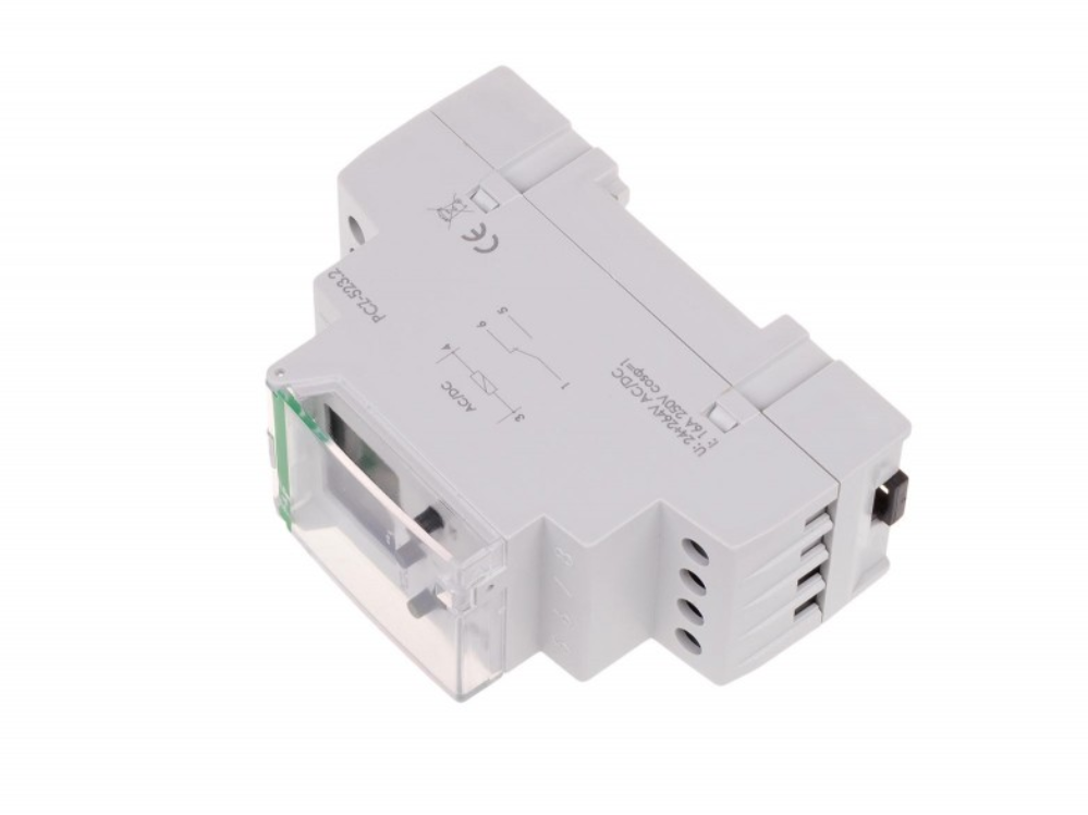 F&F Pcz-523.2 Programmierbare Digitale Zeitschaltuhr 24V ÷ 264V Ac / Dc 16A Ip20 3