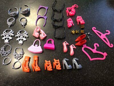 Doll Accessories Clothes Shoes Necklace Glasses For Barbie Doll Gift 40 Item/Set 6