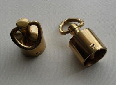 Seilendkappe mit Ring Messing gl/änzend f/ür 40mm Handlaufseil