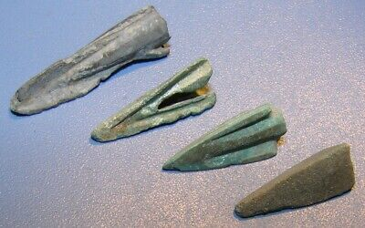 Scythian Vikings arrowheads 7 - 2 nd century BC bronze. RARE. ORIGINAL 5