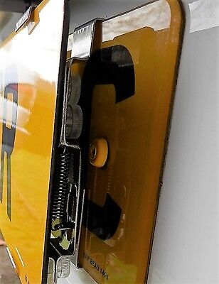 Showroom Show Display Number Plate Holders Clip On Spring Loaded Trailer Bracket 10