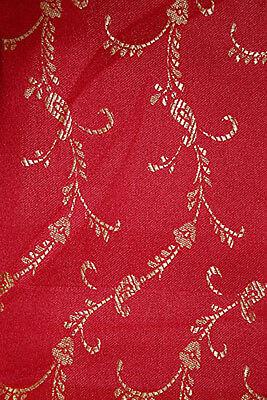 Fertig gewickelter Bollywood Sari Indien Rot in 3 Größen 2