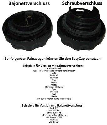 RediCAP Benzin Schwarz Tankdeckel Tanken wie in der DTM Formel 1 Bajonettverschluss
