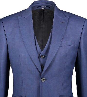 HARDY AMIES 3 PIECE Check SOFT ITALIAN WOOL Suit UK46 US46 IT56 C46 x W40 NEW 3
