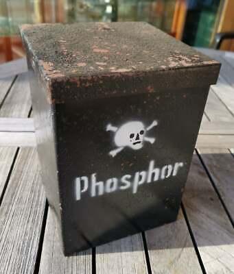 APOTHEKER - ORIGINAL PHOSPHOR - BEHÄLTNIS aus METALL mit GEFÄß - SELTENST!!!! 4