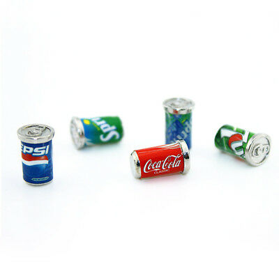 5 Dollhouse Miniature Soda Pop Cans Kitchen Food Drink Beverage Cola Pepsi 1/12 8