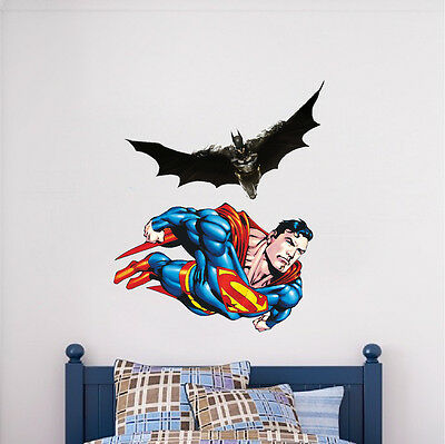 2 Of 4 Superman Flying Wall Decal Mural Designs Vinyl DC Comics Justice  League S47
