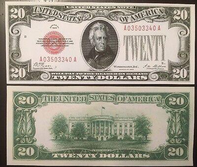 Fantasy Reproduction Set 1928 United States Notes $10 $20 $50 $100 Bills