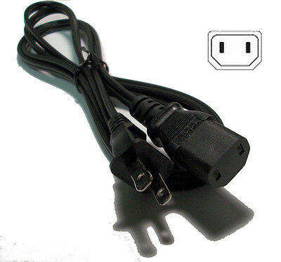 2-Prong Power Cord for BIC America V1220 Venturi V1020  V12 /& PL-200 Subwoofers