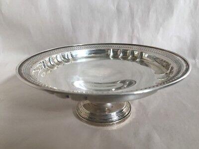 Vintage Revere Silversmiths Sterling Silver Round Pierced Pedestal Bowl Dish 4