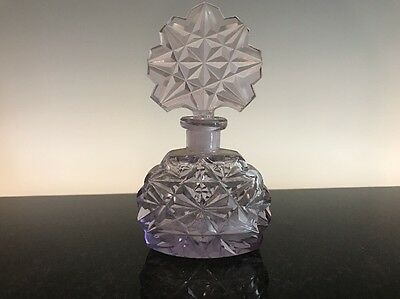 Antique Amethyst Purple Glass Scent Bottle