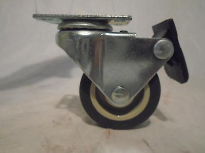 "2"" x 13/16"" Swivel Caster Brake Thermoplastic Soft Rubber Non-Marking Wheel (8)"