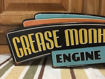 Grease Monkey Hot Rod Garage Metal  Gas Pump Coupe Rat Rod Oil Can Ford Chevy 2