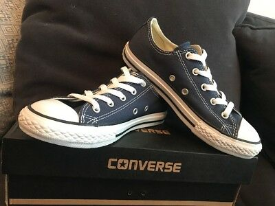 Boys/Girls Designer Converse All Star Blue Low Top Trainer UK Kids 2 BNIB 2