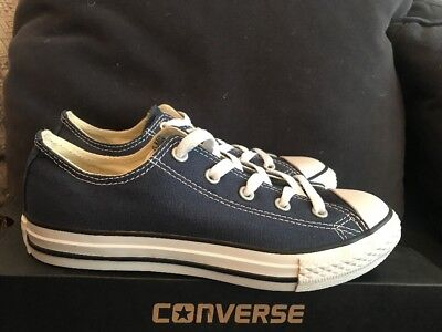 Boys/Girls Designer Converse All Star Blue Low Top Trainer UK Kids 2 BNIB 4