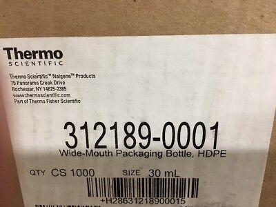 NEW (6) Nalgene Packaging Bottles, 30ml 1oz, Wide Mouth, HDPE 3