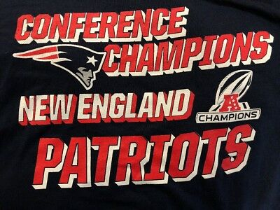 New Navy Blue New England Patriots Conference Champions T-Shirt Men's Large