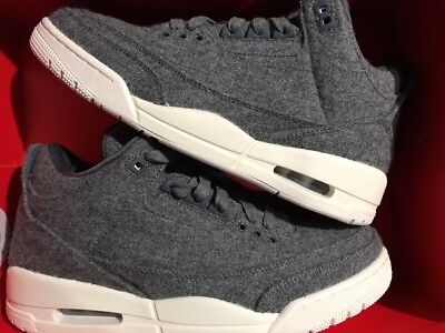 1c463cd372a2 7 of 9 Nike Air Jordan 3 III Retro Wool SZ 9.5 Dark Grey Sail Cement OG  854263-