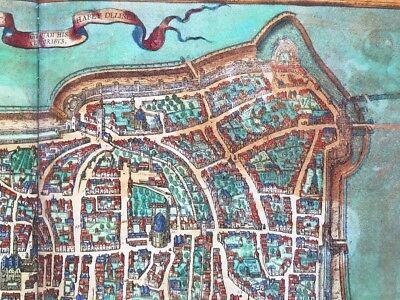 Old Antique Historic Map Augsburg Germany: 1563 Braun & Hogenberg REPRINT 1500's 7