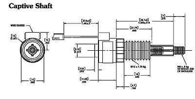 Stepper Linear Actuator Haydon LC1574W-04-025 bipolar 4V 0.2A 3