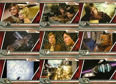Collectibles Non-sport Trading Cards Battlestar Galactica Deluxe Foil Base Set Trading Cards 72 Card Set