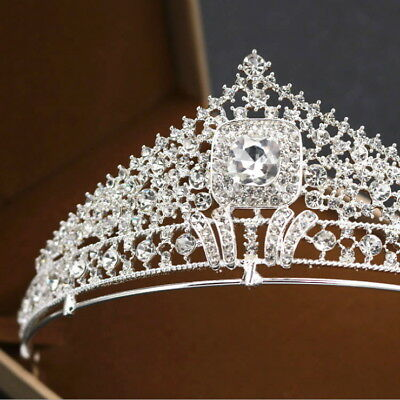 Full Clear Crystal 5.5cm High Adult Wedding Party Pageant Prom Tiara Crown