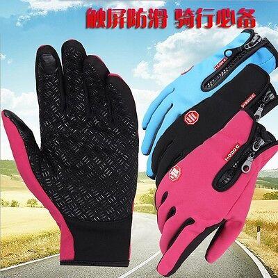 Wasserdicht Thermo Winter Handschuhe Finger Touch klappbar Sport Warm Gloves -DE 8