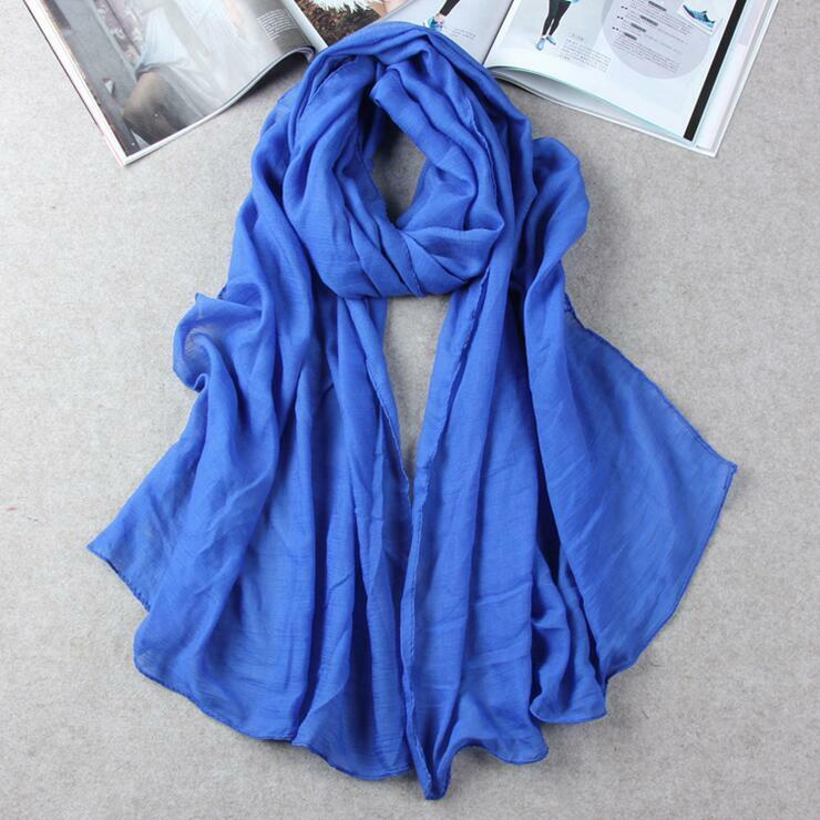 Hot Lady Women Long Candy Colors Soft Cotton Scarf Wrap Shawl Scarves Fashion 8